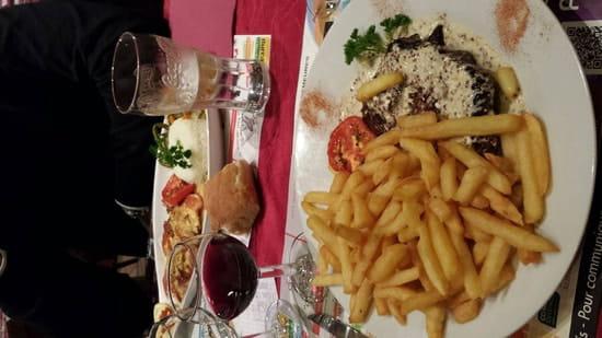Plat : Le Grill Saint Jean  - Rumsteak frite sauce graine de moutarde -