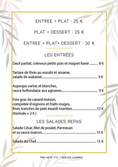 Restaurant : Le Paseo - Cocktail club & restaurant (Ex : LE SUD)  - Menu mois de Mai -   © Le Paseo - Restaurant