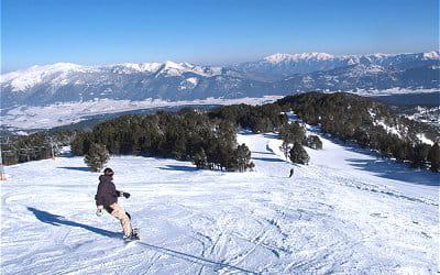 la station de ski de formiguères.