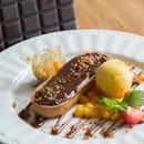 Dessert : Chez Fred  - Tartelette ganache et passion -   © Nos desserts sont tous fait maison