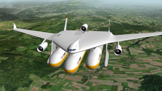 Clip-Air : l'avion qui embarque les rames de trains