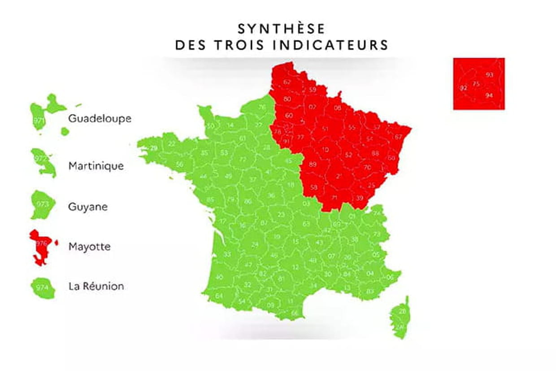 carte de france regions
