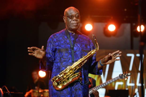 Manu Dibango, saxophoniste et chanteur