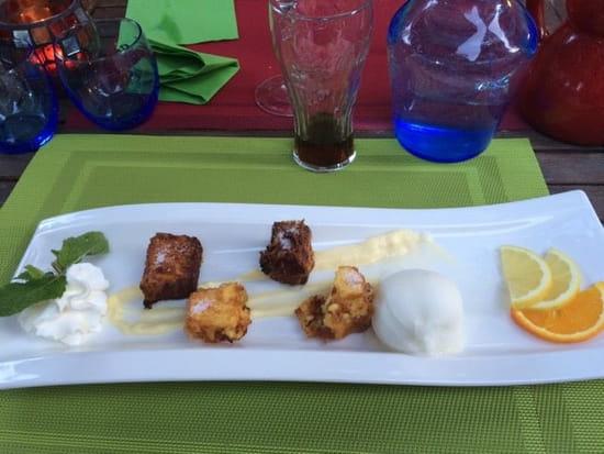 Dessert : La Terrasse Fleurie  - Les beignets de Divonne -