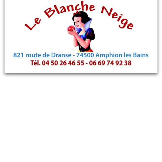 Restaurant : Le Blanche Neige