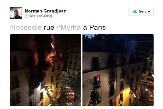 """Incendie rue Myrha: """"c'était l'horreur"""", le témoignage des voisins"""