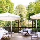 Les Jardins d'Epicure Hôtel/Restaurant Gastronomique  - La terrasse d'été -   © Christophe Bak