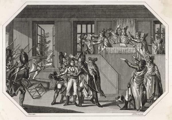 Le 19 Brumaire, coup d'Etat de Napoléon Bonaparte à Saint-Cloud et renversant le Directoire