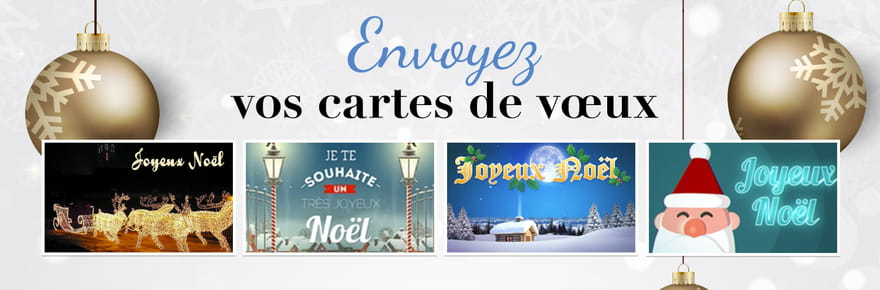 """Carte de Noël : envoyez un """"Joyeux Noël"""" à vos proches"""