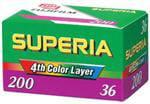 fuji superia 200 est une pellicule couleur fabriquée par fujifilm permettant de