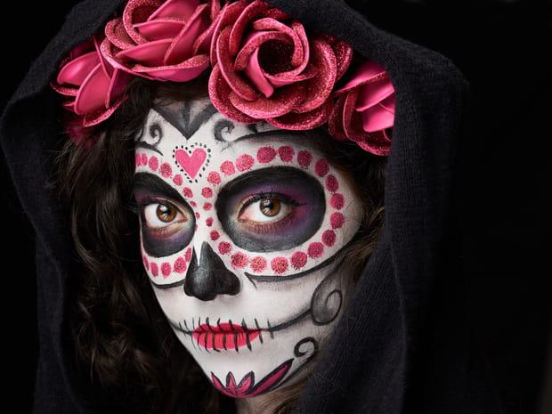 Halloween2018: le maquillage simple de La Catrina pour les femmes