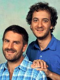 Palmashow à gauche Grégoire Ludig et à droite David Marsais