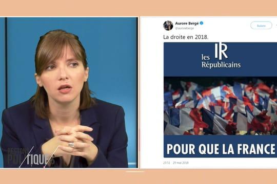 """Aurore Bergé """"choquée"""" par un tract LR: """"La droite devient identitaire"""""""