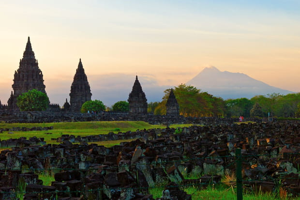 Le Temple de Prambanan à Java