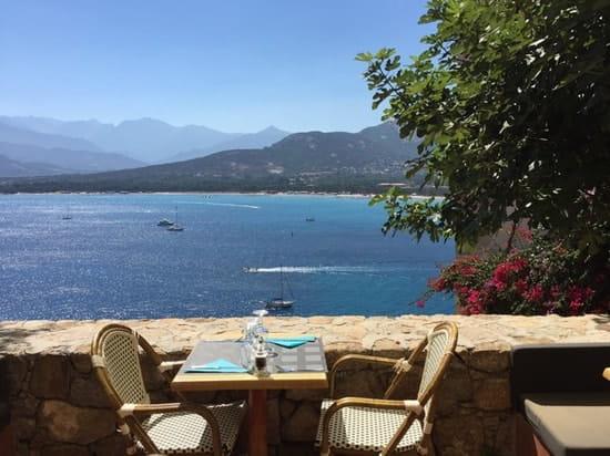 Restaurant : A Candella  - Terrasse surplombant la baie de Calvi -