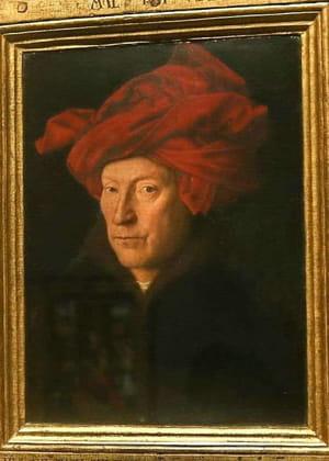 Jan Van Eyck - L'Homme au turban rouge (autoportrait)