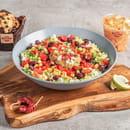 Plat : Tex A Way  - Salade maison, avec salade de légumes maison et muffin maison -   © #TEXAWAYOFLIFE