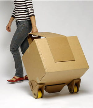 cet ensemble de cartons est suffisamment résistant pour transporter des charges
