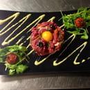 Plat : La Licorne  - Tartare à l'Italienne de Boeuf Limousin au couteau -