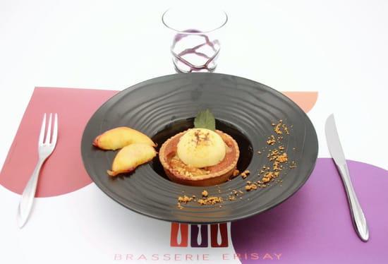 Dessert : L'Atelier de Jacques  - Exemple de dressage de dessert -   © ERISAY