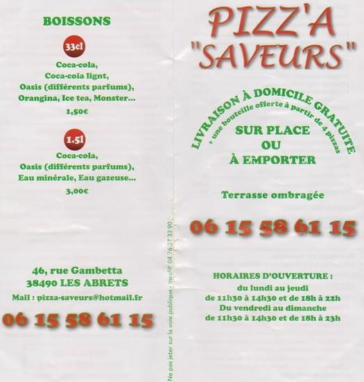 Pizza les Abrets   © Pizza Saveurs