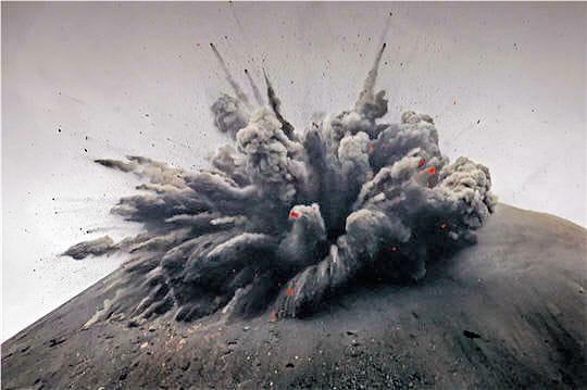 Volcan explosif