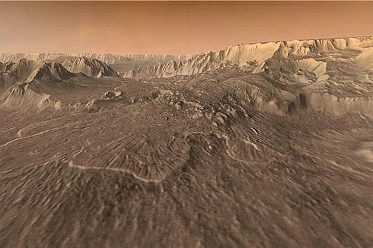 Simulation de vol sur Mars