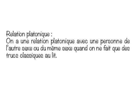 Relation platonique