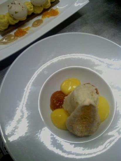 L'Oh à la Bouche !  - Ananas en chutney, spoom exotique et biscuit tendre coco -   © L'Oh à la Bouche !