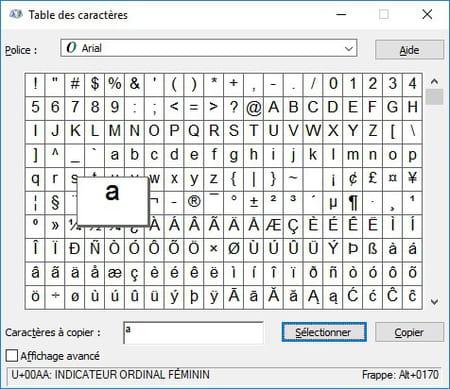 Comment ins rer des caract res sp ciaux - Table des caracteres windows ...