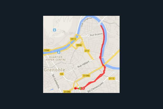 Grenoble : le parc Paul Mistral et la digue de l'Isère (4,8km)