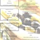 L'Aromence  - carte du restaurant -   © L'Aromence