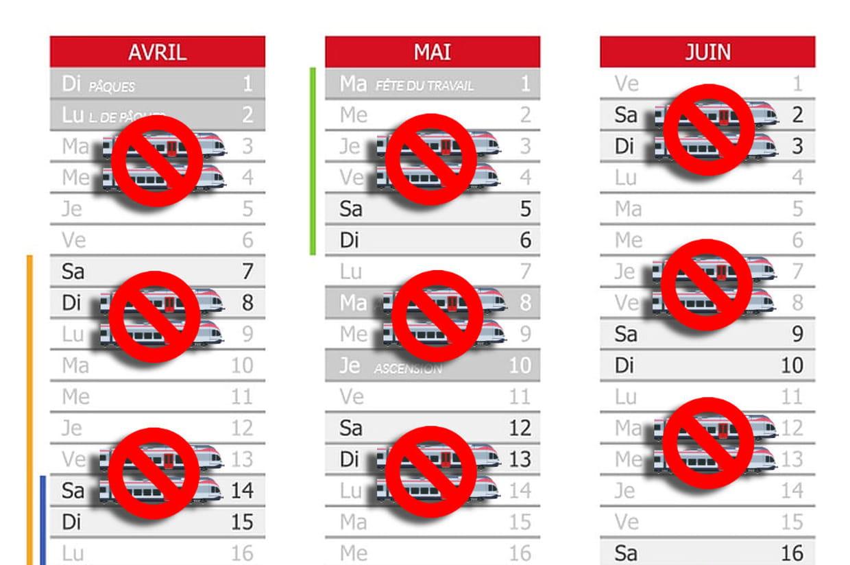 SNCF: La calendrier des jours de grève
