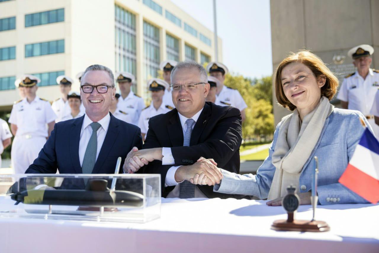 Australie et France signent leur colossal contrat pour 12sous-marins