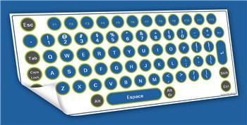 un clavier que l'on prendrait presque pour une feuille de papier.