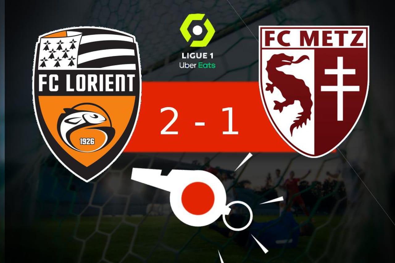 Lorient - Metz: mauvaise opération pour le FC Metz chez son adversaire (2- 1), les temps forts du match