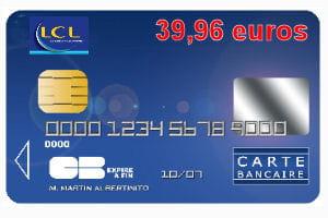 Carte Bleue Visa Lcl.27e Lcl Avec Une Carte Bleue Visa Ou Mastercard A 39 96