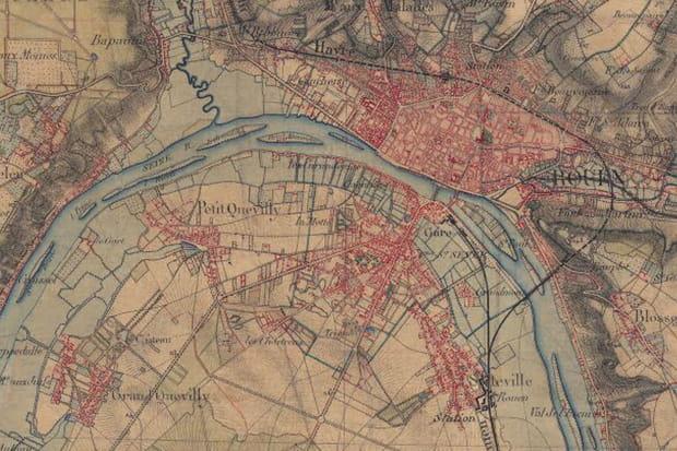 Rouen vers 1860