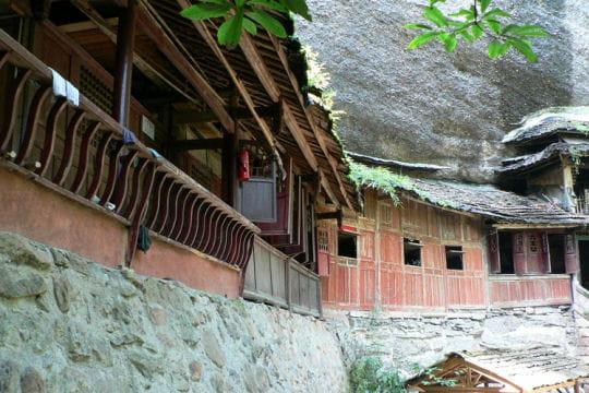Ermitage dans la montagne à Qingcheng Shan
