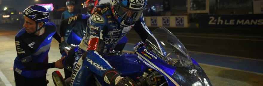 24Heures Motos: la Yamaha N.94chute et perd la tête