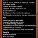 Restaurant Ma Maison  - carte selon saison -