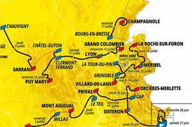 Tour de France 2020: la carte du du parcours