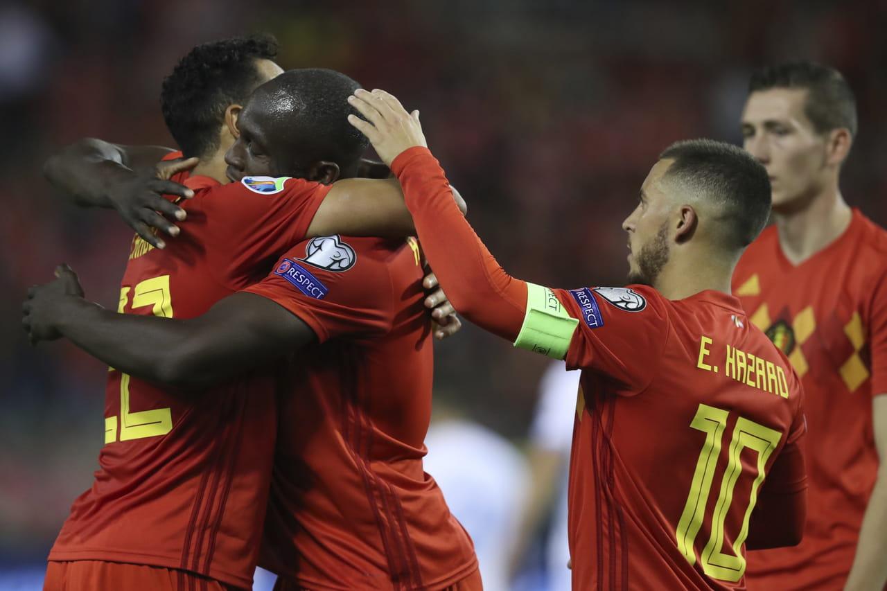 Qualifications Euro 2020: la Belgique qualifiée, le classement des groupes