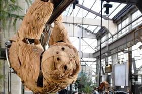 Les Machines de l'île: un paresseux rejoint le bestiaire de l'île de Nantes