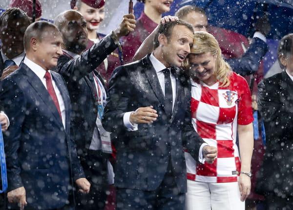 Emmanuel Macron et la présidente croate Kolinda Grabar-Kitarovic.