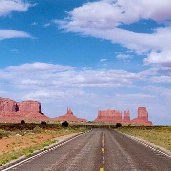 la route 66 à travers l'ouest américain