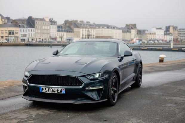 Essai de la Ford Mustang Bullitt sur le port de Cherbourg