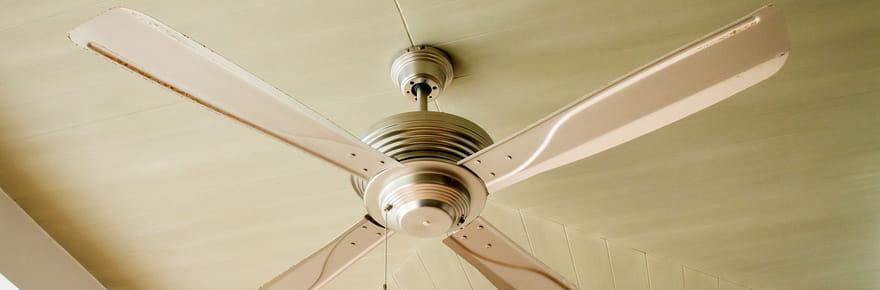 Ventilateur: au plafond, sur pied, en colonne, silencieux et pas cher