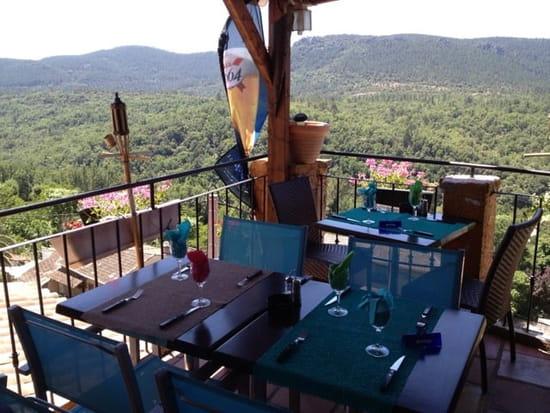 Restaurant : Bar Restaurant Le Commerce  - Belle vue de la terrasse du restaurant.  -