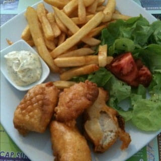 Plat : Sofish  - Fish & Chips complet. -